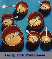 Empty Bowls With Spoons